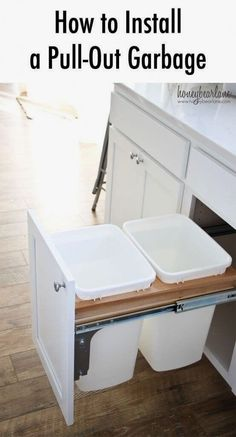 I'm so happy that I found these cheap DIY home improvements on a budget. Now I can finally make improvements and upgrades to my home for without breaking my budget. Diy Organizer, Diy Kitchen Storage, Diy Kitchen Cabinets, Kitchen Ideas, Design Kitchen, Kitchen Tips, Kitchen Furniture, Kitchen Updates, Kitchen Cupboard