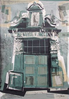 The White Hart Inn, Grassmarket Collage with Monoprint 2014 One of mine this time… one of the first pieces for my next show at the Scottish Storytelling Centre in November. All work will be based on Edinburgh's literary Landmarks, local buildings...