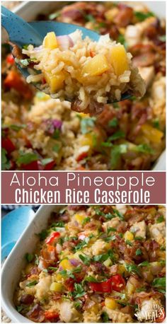 Aloha Pineapple Chicken Rice Casserole , By Ayana Cashay . This Aloha Pineapple Chicken Rice Casserole fills that need. Easy Casserole Recipes, Casserole Dishes, Casserole Ideas, Casseroles With Rice, Taco Casserole, Easy Dinner Casserole, Summer Casseroles, Gluten Free Casserole, Quick Casseroles
