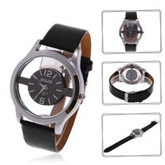 Cheap Wholesale Exquisite Bolun Female Quartz Wrist Watch Black Round Dial Black Leather Wristband Watch (BLACK) At Price 4.61 - DressLily.com