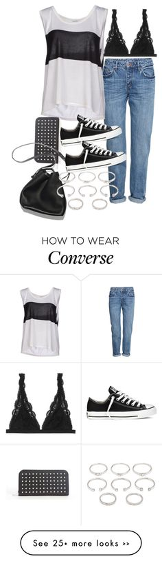 """""""Sin título #1832"""" by alx97 on Polyvore featuring H&M, Monki, Leetha, Yves Saint Laurent, 3.1 Phillip Lim, Converse and Forever 21"""