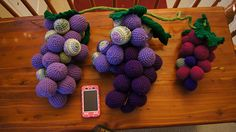 I'm going to continue to make different sizes, colors, and try different internal structures until I get a good 'bunch'. The grapes are a. Yarn Bombing, Ravelry, Raspberry, Artwork, Projects, Pattern, How To Make, Design, Log Projects