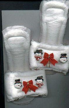 white elephant gift idea! maxi pad slippers!