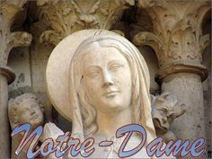 The three west portals of Notre Dame Cathedral are magnificent examples of early Gothic art. Sculpted between 1200 and 1240, they depict scenes from the life of the Virgin Mary, the Last Judgment, and scenes from the life of St. Anne (the Virgin Mary's mother). Many of the statues, especially the larger ones, were destroyed in the Revolution and remade in the 19th century.