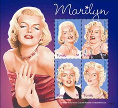 Tuvalu - Marilyn Monroe 4 Stamp Mint Sheet