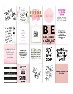 Malena Haas: FREE Planner Printables: Girl Boss & Coffee Stickers for Happy Planner