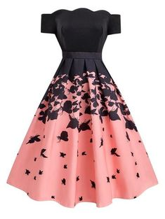 cute dresses Black Butterfly Swing Dress Retro Stage - Chic Vintage Dresses and Accessories Cute Prom Dresses, Dance Dresses, Elegant Dresses, Homecoming Dresses, Beautiful Dresses, Casual Dresses, Dresses For Work, Sexy Dresses, Summer Dresses