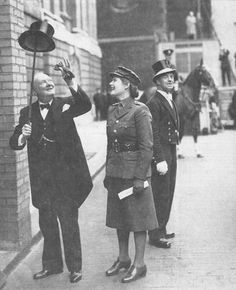Churchill with daughter Mary