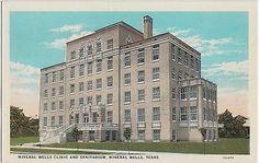 C1910 Mineral Wells Texas TX Postcard Clinic and Sanitarium | eBay