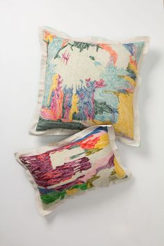 Abstraction Pillow, Square - Anthropologie.com