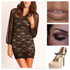 Thinking about this look for the Tran wedding in a few weeks. Cute dress, nude shoes & lips, bronze-smokey eye with straight sleek hair.
