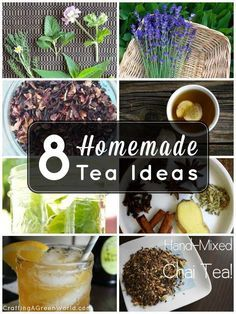 Make your own homemade tea blends!  #tea