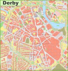 Leicester city center map Maps Pinterest Leicester and City