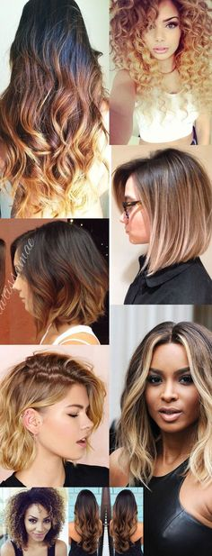 The best hair inspirations : Ombrè Love Hair, Gorgeous Hair, Hombre Hair, Haircut And Color, How To Make Hair, Hair Highlights, Revlon, Balayage Hair, Hair Looks