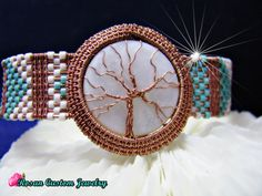 Tree of Life Copper Wire Woven Bracelet with Mother of Pearl Stone,Copper Woven,Copper Wire Woven Bracelets, Crystal Bracelets, Handmade Bracelets, Bangles, Custom Jewelry Design, Unique Jewelry, Swarovski Bracelet, Custom Earrings, Personalized Bracelets