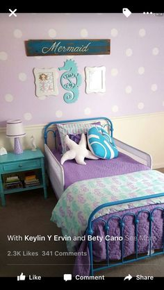 Little Girl Bedroom themes Awesome 28 Nifty Purple and Teal Bedroom Ideas Big Girl Bedrooms, Purple Bedrooms, Little Girl Rooms, Girls Bedroom, Bedroom Bed, Childrens Bedroom, Bed Room, Girls Purple Rooms, Trendy Bedroom