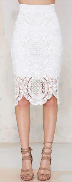 gemini lace skirt