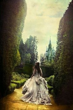 Image result for fairytale woman crown walking away castle