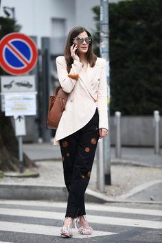 More on www.fashiioncarpet.com  Blazer, Pants, Bag & Bracelet by Emporio Armani - Sunnies by LeSpecs   #ninaschwichtenberg #fashiioncarpet