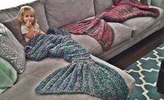 Crochet Mermaid Blanket (Free Patterns)