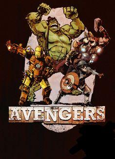 Brian Kesinger Steampunk Avengers | Follow here http://pinterest.com/cakespinyoface/geekery/ for even more Geekery-- art, tech and more!