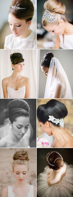 Weddbook is a content discovery engine mostly specialized on wedding concept. You can collect images, videos or articles you discovered organize them, add your own ideas to your collections and share with other people | 22 Timeless and Sophisticated Bridal Updos - Audrey Hepburn style classic bun! Instagram: http://instagram.com/praisewedding
