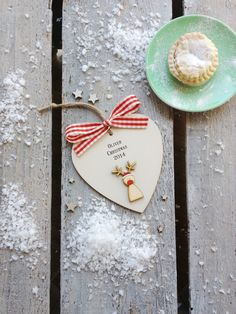 Personalised wooden Rudolf Christmas heart by weedots on Etsy