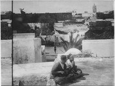 Rabat  Kasba des Oudaïas  Kasba des Oudaïas, les terrasses avec les musiciens  1916.05