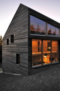 Passive House With Fire Treated Wood Cladding CAMPOS