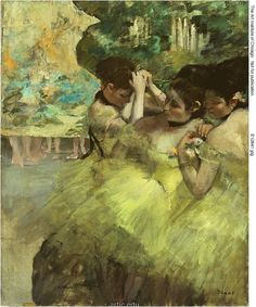Yellow Dancers (In the Wings), 1874/76, Edgar Degas French, 1834-1917
