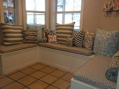 Custom Sewn Banquette Seat Bench Cushion With Cording Playroom Nursery Kitchen Pad Chair Pad