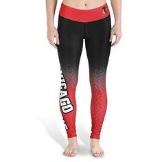 Chicago Blackhawks Womens Gradient Print Leggings | Sports Giveaways