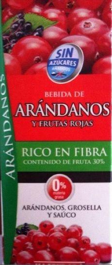 Bebida de Arándanos y Frutas Rojas Sin azúcares añadidos Hacendado (Mercadona) - 1 vaso 0,5 puntos
