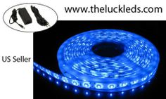 16ft Waterproof Blue SMD 300 LED flexible strip + DC12V led driver power supply Sale - http://mydailypromo.com/16ft-waterproof-blue-smd-300-led-flexible-strip-dc12v-led-driver-power-supply-sale.html