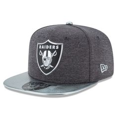 Oakland Raiders New Era NFL Spotlight Original Fit 9FIFTY Snapback Adjustable Hat - Graphite - $35.99