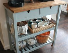 The Förhöja kitchen cart is a staple in many kitchens and pantries, adding more drawer and shelving space w...