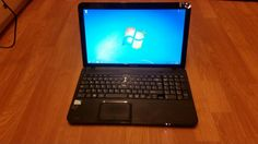 Toshiba C855-1TG Laptop Windows 7 Professional 64bit, Intel Pentium B960 2x2.20Ghz, 4GB DDR3 RAM, 250GB Hard drive, Intel HD graphics, DVD/CD-RW, Webcam, HDMI port, Wifi, Bluetooth, USB3, ethernet and 3 USB ports.  This laptop is in not bad condition however the CD drive cover is missing and has 1 scratch on its lid but apart from this its in good condition. Battery lasts an estimated 4 hours and charger is included.  £85 or best offer.