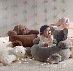 Textured Plush Lamb Floor Pillow