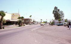 35mm Slide Phoenix Street Scene Cinerama Cars 1975 Arizona Kodachrome Original