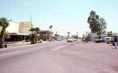35mm Slide Phoenix Street Scene Cinerama Cars 1975 Arizona Kodachrome Original