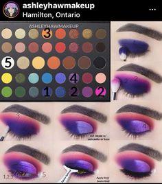 Makeup Eye Looks, Eye Makeup Steps, Beautiful Eye Makeup, Eye Makeup Art, Creative Eye Makeup, Colorful Eye Makeup, Disney Eye Makeup, Beginners Eye Makeup, Makeup Morphe