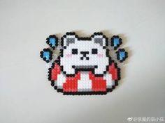 Polar bear in a floatie