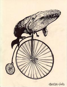 Whale on a bike