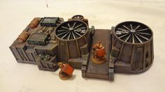 Chicago Skirmish Wargames: Terrain Triptych, Part 2: Power Station and I-Beams. Hot Wheels launcher turned into scenery