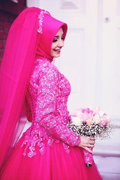 Turkish Wedding Dress, Muslim Wedding Gown, Muslimah Wedding Dress, Muslim Wedding Dresses, Muslim Brides, Wedding Dresses For Girls, Bridal Wedding Dresses, Wedding Hijab, Muslim Girls