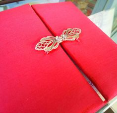 Fuchsia Hand-made Thai Silk Invitation Invites, Wedding Invitations, Silk, Handmade, Gifts, Hand Made, Presents, Wedding Invitation Cards, Favors