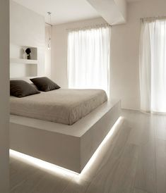hidden lighting makes this bed appear to float bedroom accent lighting surrounding