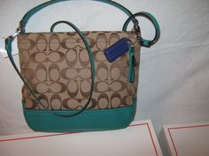'BNWT, F49158 Coach Park Signature Mini Duffle, Jade' is going up for auction at  4pm Sat, Nov 2 with a starting bid of $1.