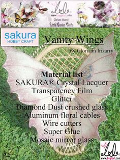 Sakura Hobby Crafts: SAKURA ® Mosaic Glass Fairy Wings