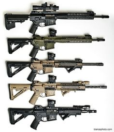 The LWRC range of rifles. These short stroke piston rifles are among the best AR platform rifles in the US market.